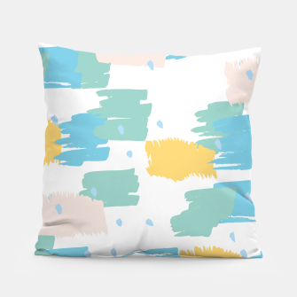 Pastel colors brushstrokes Pillow thumbnail image