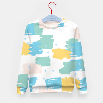 Pastel colors brushstrokes Kid's sweater thumbnail image
