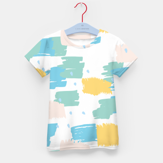 Pastel colors brushstrokes Kid's t-shirt thumbnail image