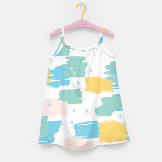 Pastel colors brushstrokes Girl's dress thumbnail image