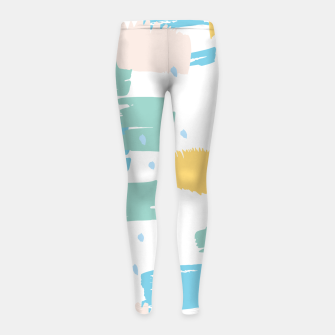 Pastel colors brushstrokes Girl's leggings thumbnail image