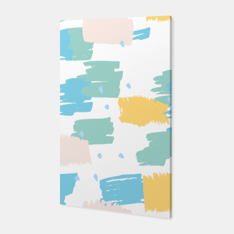 Pastel colors brushstrokes Canvas thumbnail image