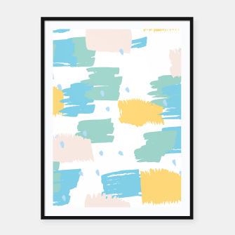 Pastel colors brushstrokes Framed poster thumbnail image