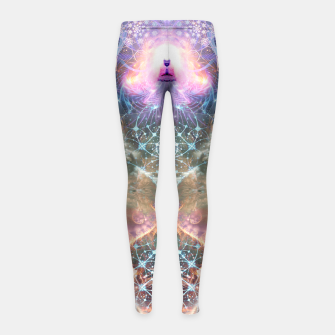 Thumbnail image of The Alchemist's Breath (Buddha) Girl's leggings, Live Heroes