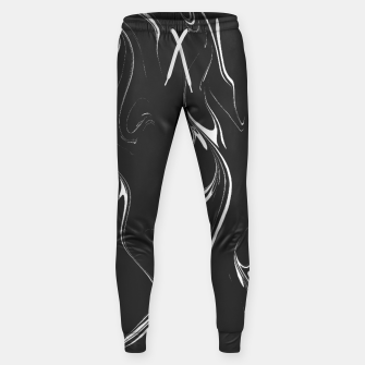 Black and white marble background Sweatpants thumbnail image