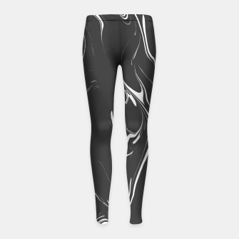 Black and white marble background Girl's leggings thumbnail image