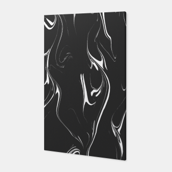 Black and white marble background Canvas thumbnail image