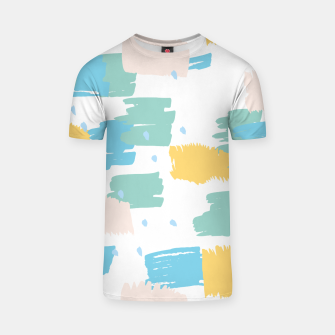 Pastel colors brushstrokes T-shirt thumbnail image