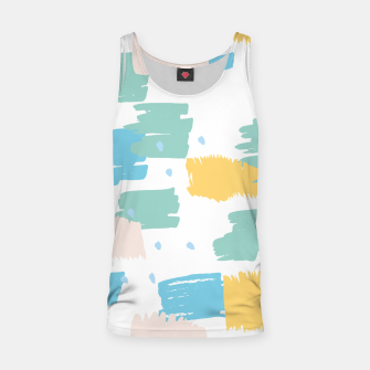 Pastel colors brushstrokes Tank Top thumbnail image