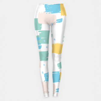 Pastel colors brushstrokes Leggings thumbnail image
