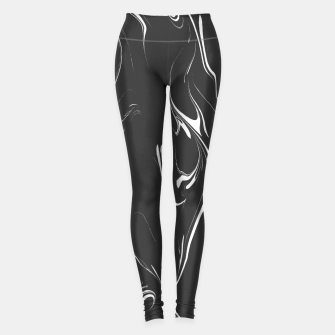 Black and white marble background Leggings thumbnail image