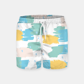 Pastel colors brushstrokes Swim Shorts thumbnail image