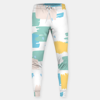 Pastel colors brushstrokes Sweatpants thumbnail image