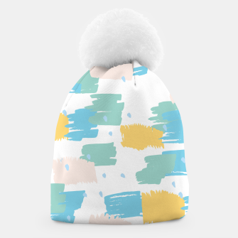 Thumbnail image of Pastel colors brushstrokes Beanie, Live Heroes