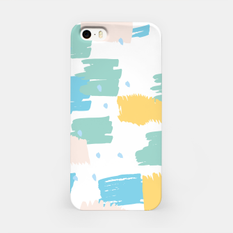 Pastel colors brushstrokes iPhone Case thumbnail image