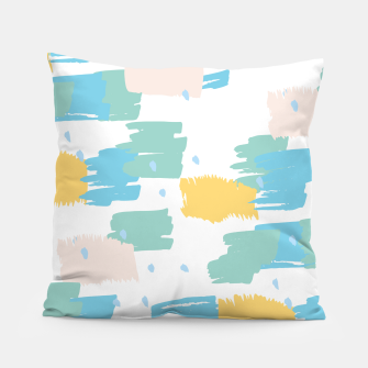 Miniatur Pastel colors brushstrokes Pillow, Live Heroes