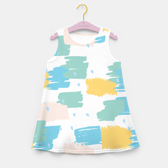 Miniatur Pastel colors brushstrokes Girl's summer dress, Live Heroes