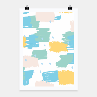 Thumbnail image of Pastel colors brushstrokes Poster, Live Heroes