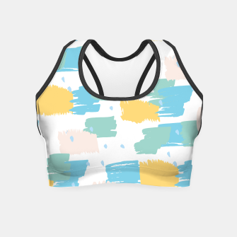Miniatur Pastel colors brushstrokes Crop Top, Live Heroes
