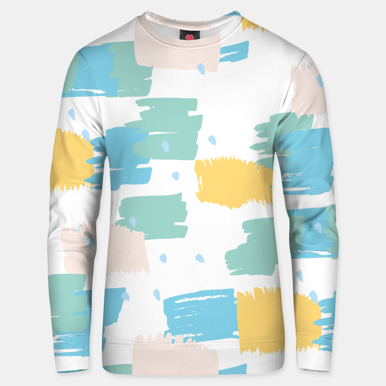Image of Pastel colors brushstrokes Unisex sweater - Live Heroes