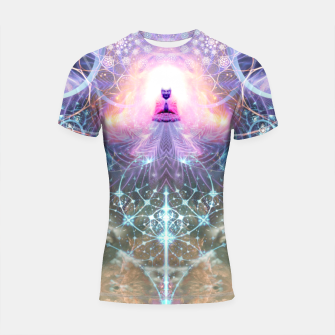 Thumbnail image of The Alchemist's Breath (Buddha) Shortsleeve rashguard, Live Heroes