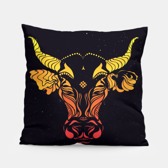 Angry cattle in the wind by #Bizzartino v2 Pillow thumbnail image