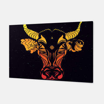 Angry cattle in the wind by #Bizzartino v2 Canvas thumbnail image