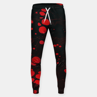 lack and red colors splatter Sweatpants thumbnail image