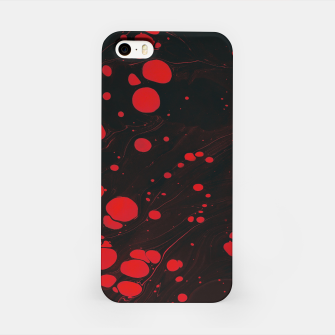 lack and red colors splatter iPhone Case thumbnail image