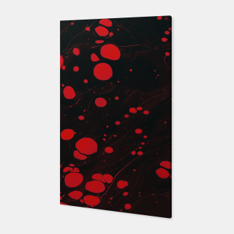 lack and red colors splatter Canvas thumbnail image
