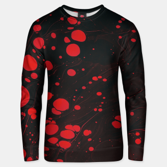 lack and red colors splatter Unisex sweater thumbnail image