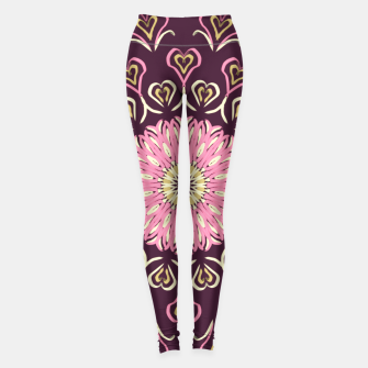 Thumbnail image of My Valentine's Day (Flama) Leggings, Live Heroes