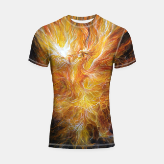 Thumbnail image of The Phoenix Shortsleeve rashguard, Live Heroes