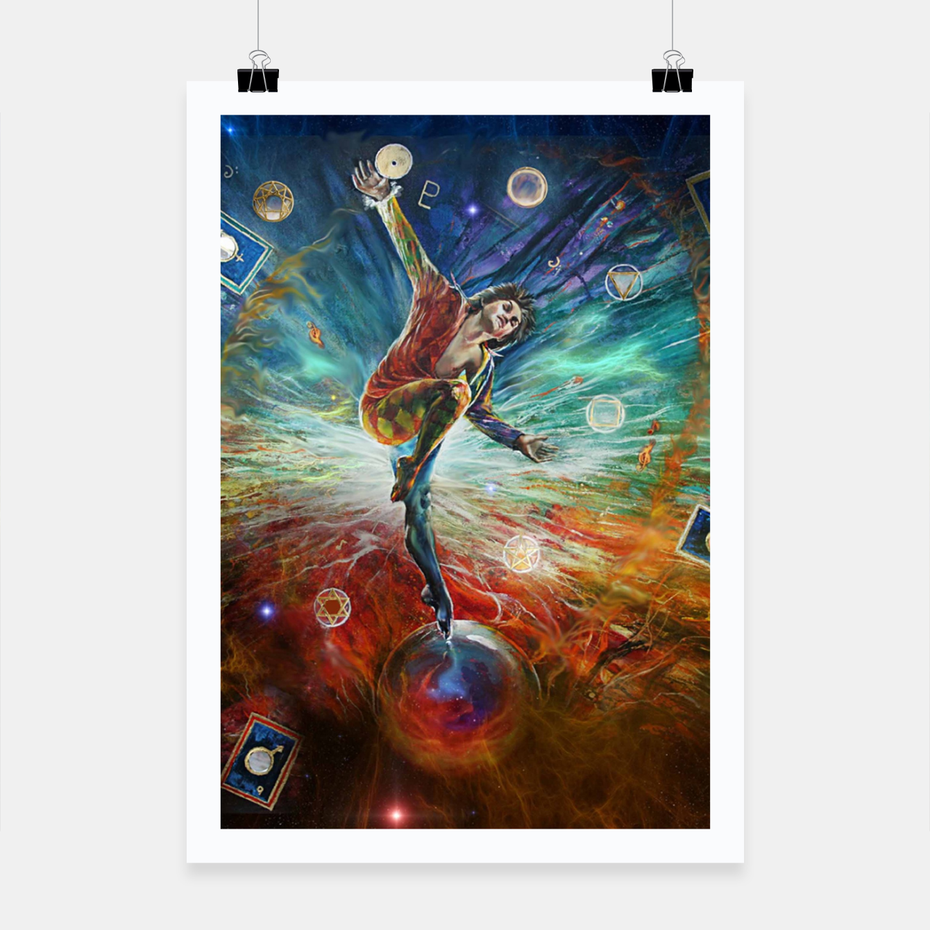 Image of The Fool Poster - Live Heroes