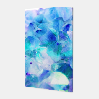 Iridescent Quartz Crystal #2 #gem #decor #art  Canvas thumbnail image