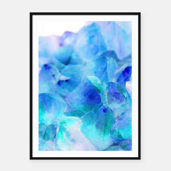Iridescent Quartz Crystal #2 #gem #decor #art  Plakat mit rahmen thumbnail image