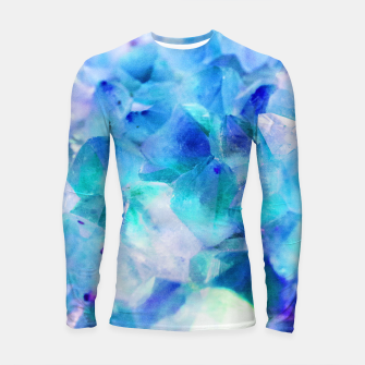 Iridescent Quartz Crystal #2 #gem #decor #art  Longsleeve rashguard thumbnail image