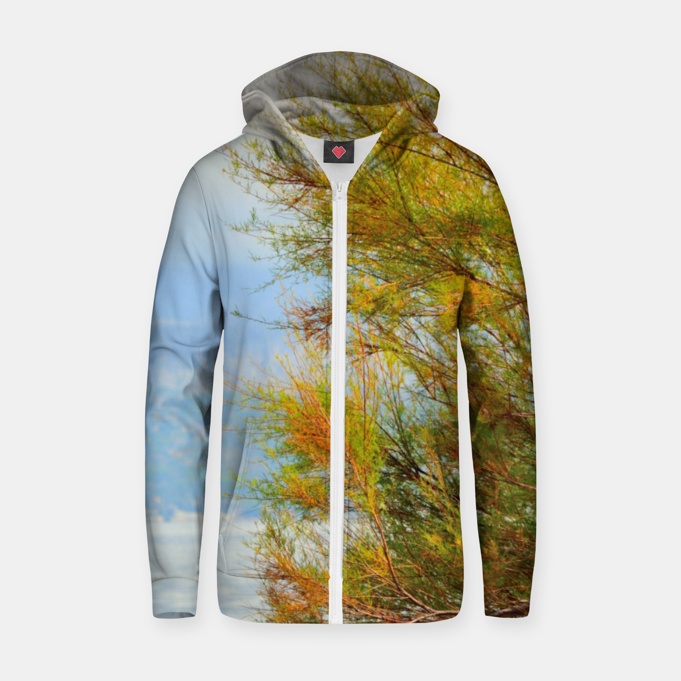 Image of Close to the sea Zip up hoodie - Live Heroes