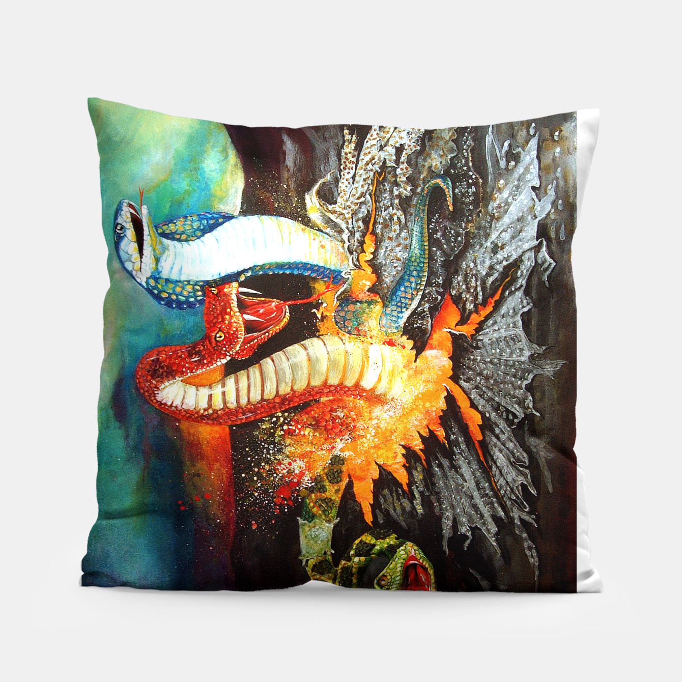 Image of Once Bitten Pillow - Live Heroes