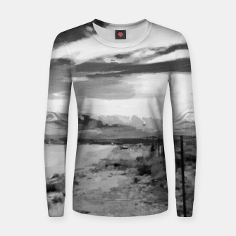 hurricane valley digital oil painting akvop bw Women sweater thumbnail image