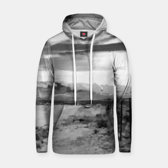hurricane valley digital oil painting akvop bw Hoodie thumbnail image