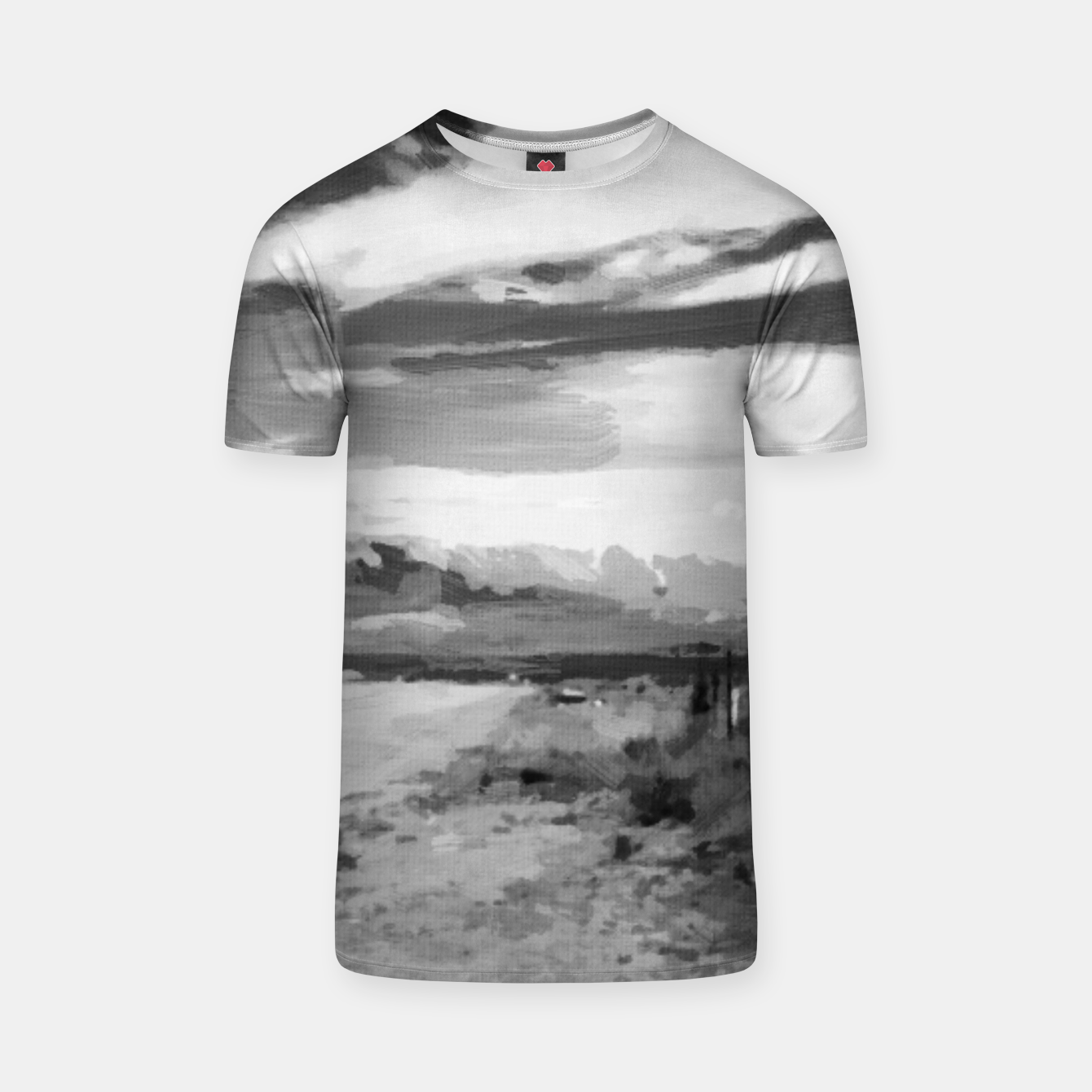 Image of hurricane valley digital oil painting akvop bw T-shirt - Live Heroes