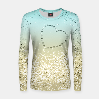 Sparkling Lemon Twist Beach Glitter Heart #2 #shiny #decor #art  Frauen sweatshirt thumbnail image