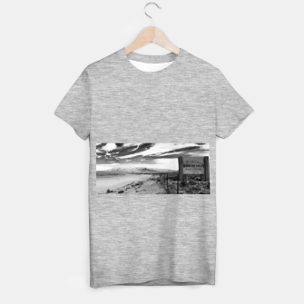 hurricane valley digital oil painting akvop bw T-shirt regular thumbnail image