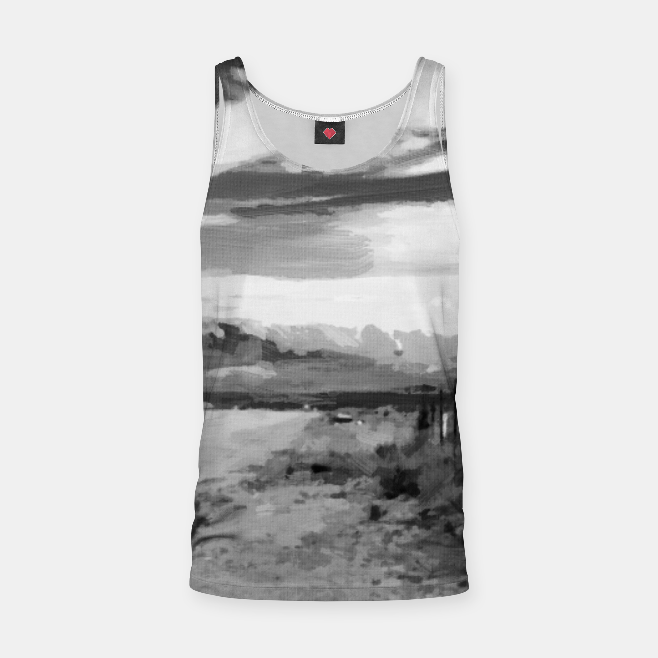 Image of hurricane valley digital oil painting akvop bw Tank Top - Live Heroes
