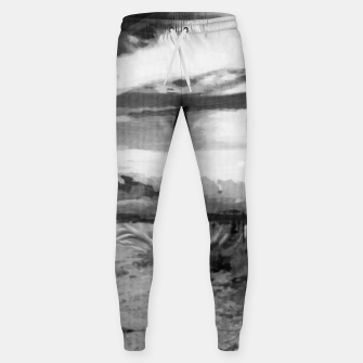 hurricane valley digital oil painting akvop bw Sweatpants thumbnail image