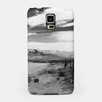 hurricane valley digital oil painting akvop bw Samsung Case thumbnail image