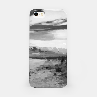 hurricane valley digital oil painting akvop bw iPhone Case thumbnail image