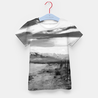 hurricane valley digital oil painting akvop bw Kid's t-shirt thumbnail image
