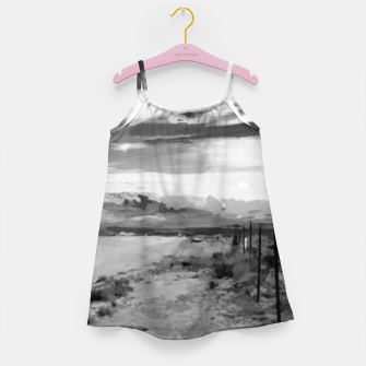 hurricane valley digital oil painting akvop bw Girl's dress thumbnail image